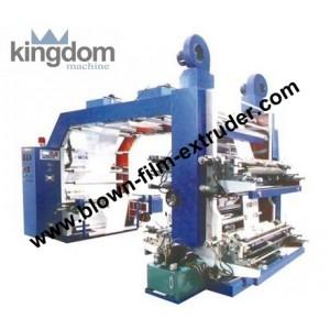 Флексографичеcкая четырехкрасочная печатная машина ярусного построения